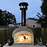 Outdoor Pizza Oven, Wood Fired, Insulated, w/ Brick Arch & Chimney