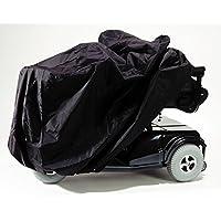Accesorios EZ-ACCESS, funda para silla eléctrica (3.25 lbs), proteja su silla de ruedas eléctrica contra el sol, el polvo y el moho mientras está almacenado o viajando, resistente al agua, incluye estuche para cosas, ojales de amarre