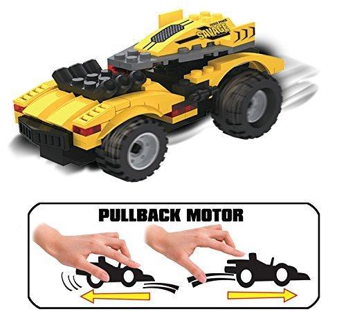 UniBlock Pullback Building Block Car  74 pc by Unitech Toys
