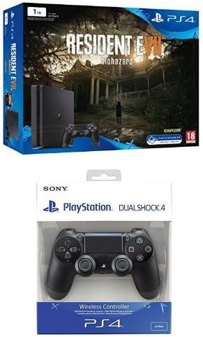 PlayStation 4 Slim (PS4) 1TB - Consola + Resident Evil VII + DualShock 4 Negro V2 adicional: Amazon.es: Videojuegos