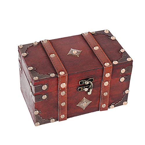 SICOHOME Treasure Box,Small Pirate Box with Pirate Accessories for Boys,Girls and Gift Cards by SICOHOME