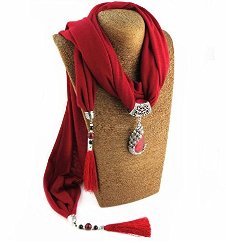 Satyam Kraft Pendant Necklace Scarf