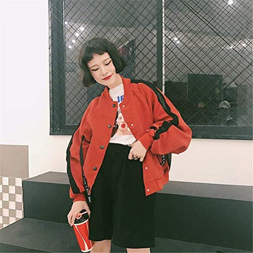 College Pilot Fashion Outerwear Lunghe Eleganti Chic Casual Cappotto Lacci Giacca Maniche Con Donna Rot Autunno Giacche Ragazza Stampate Relaxed Bomber aTwtfxqn6F