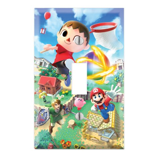 witch Cover Plate Decor Wallplate - Super Smash Bros Mario Animal Crossing Zelda Kirby ()