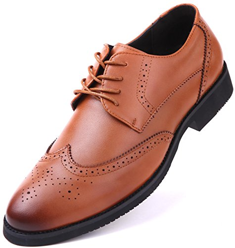 Dressports Wingtip Shoes,Tan,10 D(M) - Mens Designer Top Brands Ten