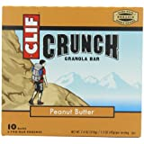 CLIF CRUNCH - Granola Bar - Peanut Butter - (1.48 oz, 5 Two-Bar Pouches)
