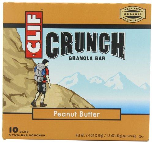 Clif Bar Granola Crunch, beurre d'arachide, 5 Deux-Bar sachets 7,4 once