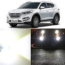 Alla Lighting 2x Super Bright 6000K White 880 GE880 LED Bulbs for Front Fog Light Lamps for 2010 2011 2012 2013 2014 2015 Hyundai Tucson