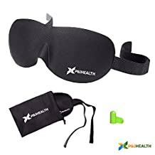 P&J Health 3D contour Sleep Mask with Free Ear Plugs Best Sleeping Mask Eye Cover for Sleep, Travel, Nap, Meditation sleep helper for Men, Women