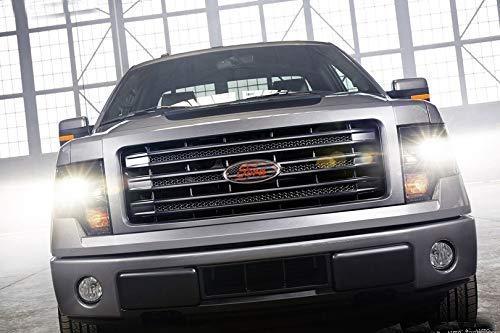 Ruanye F-9Q International Truck USA Flag Ford 2004-2014 F150 F250 F350 Edge Explorer Front Grille//Tailgate Emblem Oval Decal Badge Nameplate 9 X 3.5
