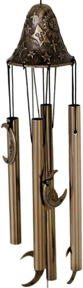 Hacaso Moon Wind Chimes, Home Garden Decoration Musical Copper Wind Chime Ornaments