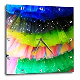 3dRose Danita Delimont - Objects - Spain, Balearic Islands, Mallorca. Rainbow of colors on netted skirts. - 10x10 Wall Clock (dpp_277902_1)