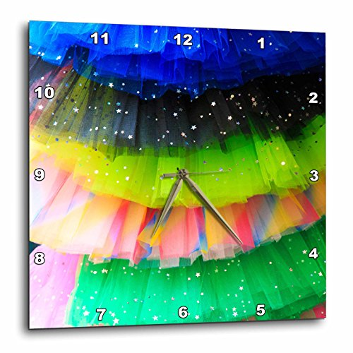 3dRose Danita Delimont - Objects - Spain, Balearic Islands, Mallorca. Rainbow of colors on netted skirts. - 10x10 Wall Clock (dpp_277902_1) by 3dRose