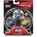 Disney/Pixar Cars Mini Racers Metallic Series Metal Vehicles, 3 Pack