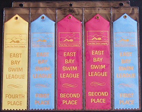 10 Swimming Ribbon Album Organizer Storage PAGES Award Ribbons Holder Display Gift Swim Gymnastics Track and Field