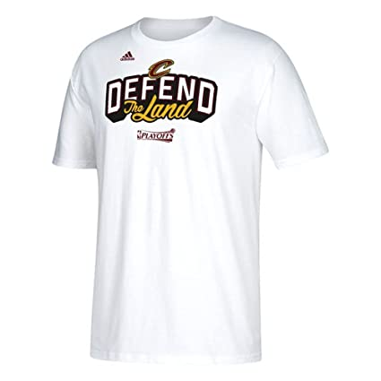 Cleveland Cavaliers Adidas 2017 Defend the Land NBA Playoff Tee (Medium)