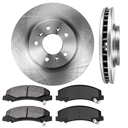 Chevrolet Brake Impala (FRONT 303 mm Premium OE 5 Lug [2] Brake Disc Rotors + [4] Metallic Brake Pads)