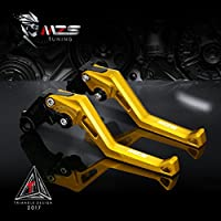 Tracer 700 2016-2017 Gold 2014-2019 not FJ-09 FZ-09//MT-09//SR MZS CNC Brake Clutch Levers Set Short Compatible Yamaha MT-07//FZ-07 2014-2019