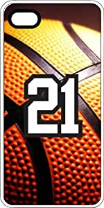 Basketball Sports Fan Player Number 20 Clear Rubber Decorative iPhone 4/4s Case