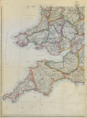 Map Of S England.Amazon Com South West England S Wales Devon Cornwall Somerset