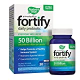 Nature's Way Primadophilus Fortify Daily Probiotic, Extra Strength, 50 Billion Active Cultures, Acidophilus, Guaranteed Potency, Delayed Release, 30 Vegetarian Capsules, Gluten-Free