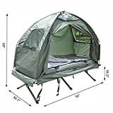 Outdoor-1-person-Folding-Tent-Elevated-Camping-Cot-wAir-Mattress-Sleeping-Bag-TKT-11