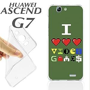 J709 HUAWEI ASCEND G7 GEL CARCASA FUNDA TPU YO QUIERO VIDEO JUEGOS I LOVE PIXEL