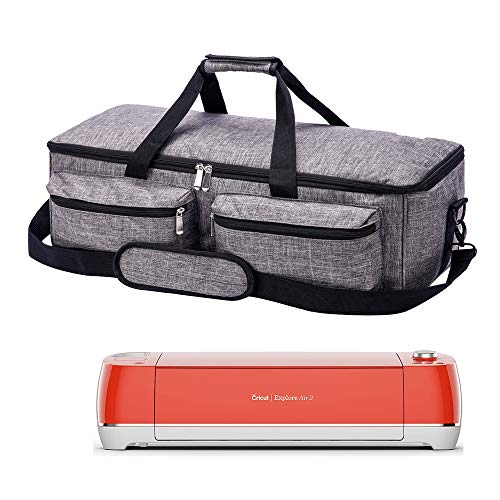 PICAN Foldable Carrying Bag Compatible with Cricut Explore Air and Maker, Tote Bag Compatible with Cricut Explore Air 2 and Silhouette Cameo 3 (Gray) ()