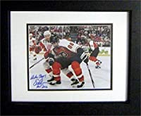Autograph Warehouse 259564 Eric Lindros Autographed 8 x 10 in. Photo - Philadelphia Flyers Inscribed HOF 16 Image - No. SC5 Matted & Framed