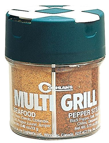 Coghlan's Multi-Grill Spice and Herb Assortment Shaker (Seafood, Pepper Steak, Chicken, Grill & Boil)