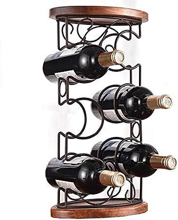HJXSXHZ366 Estantería de Vino Estante del Vino de Mesa Estante del Vino Titular de la Botella de Vino apilable for gabinete Elegante Aspecto Estante de Vino pequeño