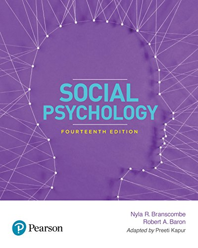 Social Psychology 14Th Edition
