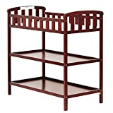 Cherry Wood Crib with Changing Table Dream On Me Emily Changing Table, Cherry