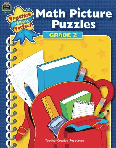 Math Picture Puzzles Grade 2 (Practice Makes Perfect)
