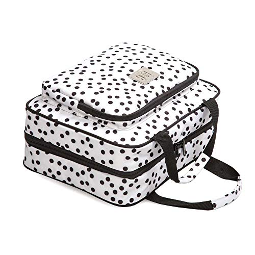 Large Polka Dot Travel Cosmetic Bag - Large Hanging Travel Toiletry And Cosmetic Organizer With Many Pockets (white polka dot)