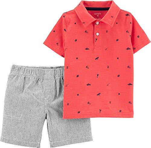 Carter's Baby Boys' 2 Pc Playwear Sets 249g396 (4T, Stripe Schiffli)