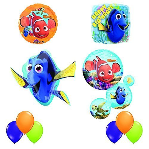 (Finding Dory and Nemo Ultimate 10 pc Birthday Party Balloon Decorating)