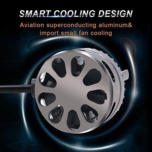 SABER-X-H1-LED-Headlight-Bulb-8000LM-6500K-Cool-White-50W-Conversion-Kit-Replaces-Halogen-HID-Bulbs-Super-Bright-Automotive-Driving-Headlamp-Pair-Error-Free-Decoder