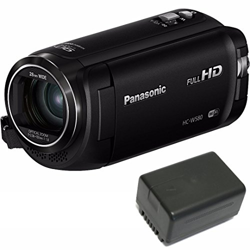 Panasonic HC-W580K Full HD 1080p Camcorder with Twin Camera w/Wasabi VBT190 Spare Battery