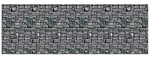 Stone Wall Backdrop Party Accessory (1 count) (1/Pkg) (Christmas Scene Setters Decorations)
