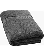 Utopia Towels - Luxurious Jumbo Bath Sheet (35 x 70 Inches) - 600 GSM 100% Ring Spun Cotton Highly Absorbent and Quick Dry Extra Large Bath Towel - Super Soft Hotel Quality Towel (Grey)