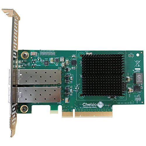 CHELSIO COMMUNICATIONS T520-SO-CR 2-Port Low Profile 1/10GbE Server Offload Adapter with PCI-E x8 Gen 3, SFP+ Connector by Chelsio Communications