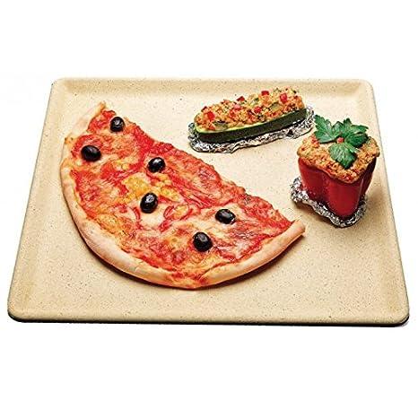 naturcook refractarios placa con recetas para horno Pizza/pan piedra: Amazon.es: Hogar