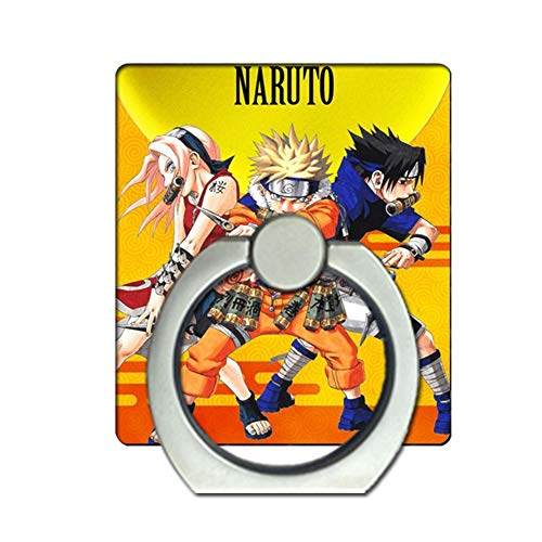 Bowinr Naruto Phone Ring Holder, Super Kawaii Naruto Shippuden Cell Phone Finger Ring Stand with 360°Rotation Hand Grip for Phones and Tablets(Style 08)