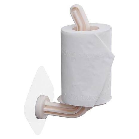 Sujetador De Toallas De Papel Plástico Horizontal Y Verticalmente Perchero De Cocina Soporte De Papel Higiénico