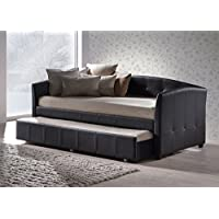 Hillsdale 1072DBT Napoli Daybed with Trundle, 41.75 D x 87 L x 36.26 H, Brown
