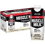Muscle Milk Genuine Protein Shake, Vanilla Crème, 25g Protein, 11 Fl Oz, 12 Pack