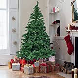 Herron Christmas 7.5' Artificial Premium Spruce Hinged Xmas Tree Metal Stand Indoors&Outdoors, 7.5ft, Indoors