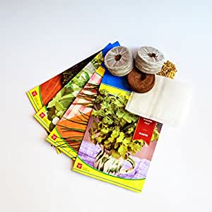Kit de semillas 4 tipos de hierbas aromáticas para huerto urbano Citysens