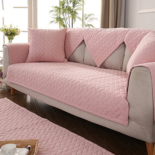 Amazon.com: Sofa cover, Cotton slipcover quilted non-Slip couch sofa ...